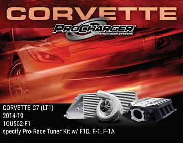 Picture of 1GU502-F1 - 2014-19 CORVETTE C7 STINGRAY (LT1) & 2017-18 GRAND SPORT (LT1) Pro Race Tuner Kit w/F-1D, F-1 or F-1A (satin finish)