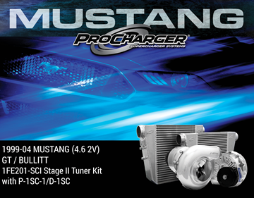 Picture of 1FE201-SCI - 1999-04 MUSTANG GT & 2001 BULLITT (4.6 2V) Stage II Intercooled Tuner Kit w/P-1SC