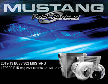 Picture of 1FR300-F1R - 2012-13 BOSS 302 MUSTANG Intercooled Cog Race Kit w/F-1A-94, F-1C or F-1R