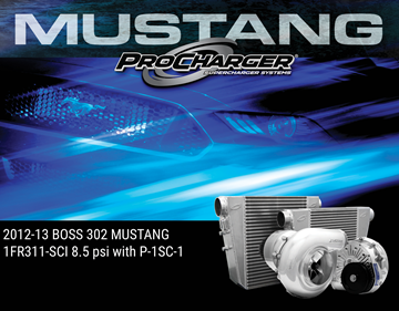 Picture of 1FR311-SCI - 2012-13 BOSS 302 MUSTANG HO Intercooled System w/Factory Airbox & P-1SC-1 (shared drive)