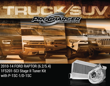 Picture of 1FS201-SCI-6.2 - 2010-14 FORD F-150 & FORD SVT RAPTOR  (6.2 4V) Stage II Intercooled Tuner Kit w/P-1SC-1