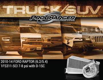Picture of 1FS311-SCI-6.2 - 2010-14 FORD F-150 & FORD SVT RAPTOR (6.2 4V) High Output Intercooled System w/D-1SC