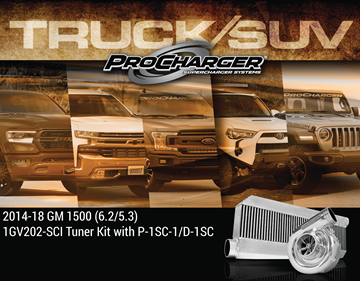 Picture of 1GV202-SCI - 2014-18 GM TRUCK / 2015-18 SUV 1500 (5.3, 6.2) High Output Intercooled Tuner Kit w/P-1SC-1