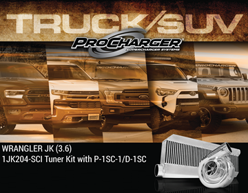Picture of 1JK204-SCI - 2012-18 JEEP WRANGLER JK (3.6) High Output Intercooled Tuner Kit w/P-1SC-1