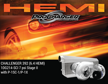Picture of 1DG214-SCI - 2011-14 DODGE CHALLENGER HEMI (6.4) Stage II Intercooled System w/P-1SC-1