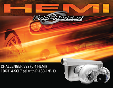 Picture of 1DG314-SCI - 2011-14 DODGE CHALLENGER HEMI (6.4) High Output Intercooled System w/P-1SC-1