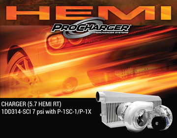 Picture of 1DD314-SCI-6.1 - 2006-10 DODGE CHARGER HEMI SRT8 (6.1) High Output Intercooled System w/P-1SC-1