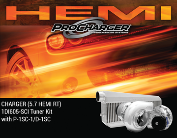 Picture of 1DI605-SCI - 2015-19 DODGE CHARGER HEMI (5.7) High Output Intercooled Tuner Kit w/P-1SC-1