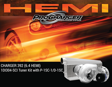 Picture of 1DI304-SCI - 2012-14 DODGE CHARGER HEMI (6.4) High Output Intercooled Tuner Kit w/P-1SC-1