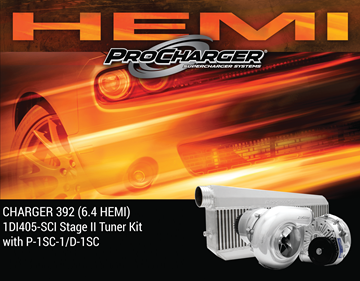 Picture of 1DI405-SCI - 2015-19 DODGE CHARGER HEMI (6.4) Stage II Intercooled Tuner Kit w/P-1SC-1