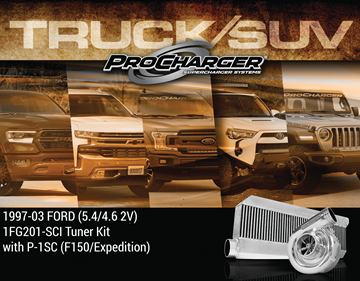 Picture of 1FG201-SCI - 1997-03 FORD F-150 & 1997-02 EXPEDITION* (5.4) High Output Intercooled Tuner Kit w/P-1SC