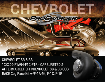 Picture of 1CX200-F1A94-F1C-F1R - CARBURETED & AFTERMARKET EFI CHEVROLET SB & BB COG RACE Cog Race Kit w/F-1A-94, F-1C, F-1R