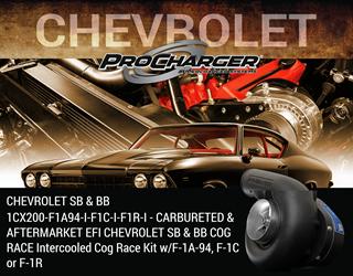 Picture of 1CX200-F1A94-I-F1C-I-F1R-I - CARBURETED & AFTERMARKET EFI CHEVROLET SB & BB COG RACE Intercooled Cog Race Kit w/F-1A-94, F-1C or F-1R