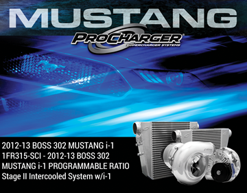 Picture of 1FR315-SCI - 2012-13 BOSS 302 MUSTANG i-1 PROGRAMMABLE RATIO Stage II Intercooled System w/i-1