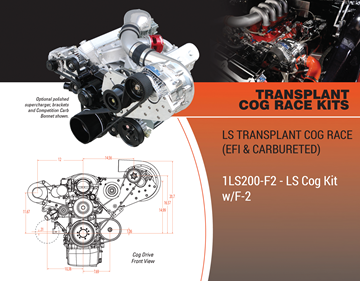 Picture of 1LS200-F2 - LS TRANSPLANT COG RACE (EFI & CARBURETED) Cog Kit w/F-2