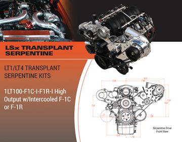 Picture of 1LT100-F1C-I-F1R-I - 2014+ LT1/LT4 TRANSPLANT SERPENTINE High Output w/Intercooled F-1C or F-1R