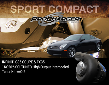 Picture of 1NC202-SCI - 2003-04 INFINITI G35 COUPE & FX35 (3.5) TUNER High Output Intercooled Tuner Kit w/C-2