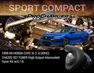 Picture of 1HA202-SCI - 1999-00 HONDA CIVIC Si (1.6 DOHC) TUNER High Output Intercooled Tuner Kit w/C-1A
