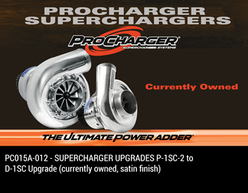 Picture of PC015A-012 - SUPERCHARGER UPGRADES P-1SC-2 to D-1SC Upgrade (currently owned, satin finish)