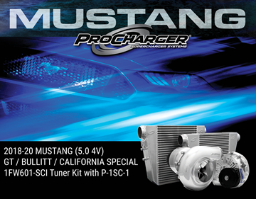 Picture of 1FW601-SCI - 2018-19 MUSTANG GT, BULLITT & CALIFORNIA SPECIAL (5.0 4V) High Output Intercooled Tuner Kit w/Factory Airbox & P-1SC-1