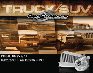 Picture of 1GD202-SCI - 1988-95 GM TBI TRUCK/SUV (5.7) High Output Intercooled Tuner Kit w/P-1SC