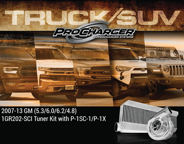 Picture of 1GR202-SCI - 2007-13 GM TRUCK / 2007-14 SUV 1500 (4.8, 5.3, 6.0) High Output Intercooled Tuner Kit w/P-1SC-1